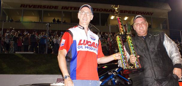 Mike Stevens wins the Lucas Oil 100.