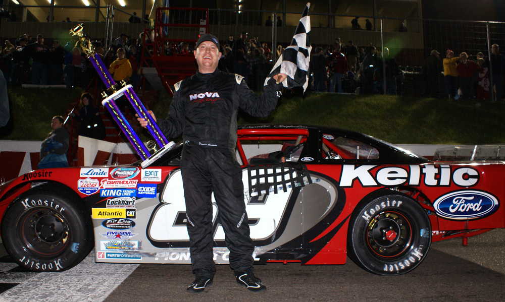 Donald Chisholm celebrates his win. (photo - Ken MacIsaac)